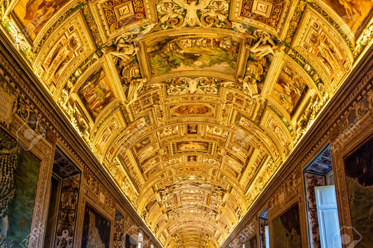Museo Del Vaticano.Immagini Stock Galleria Soffitto Al Museo Vaticano A Citta Del
