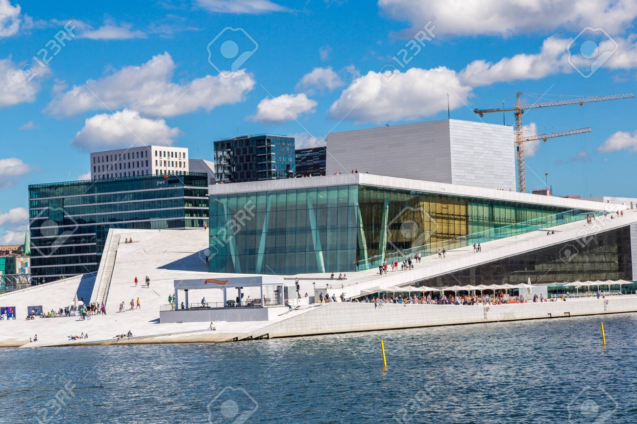 Great OSLO, NORWAY   JULY 29: The Oslo Opera House Is The Home Of The