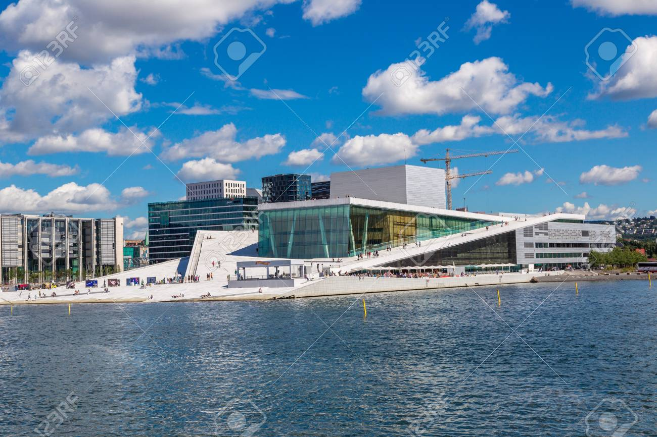 OSLO, NORWAY   JULY 29: The Oslo Opera House Is The Home Of The