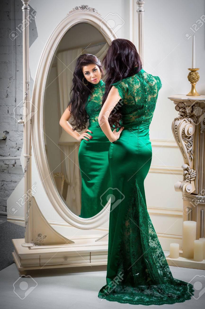 Vestidos verdes de noche