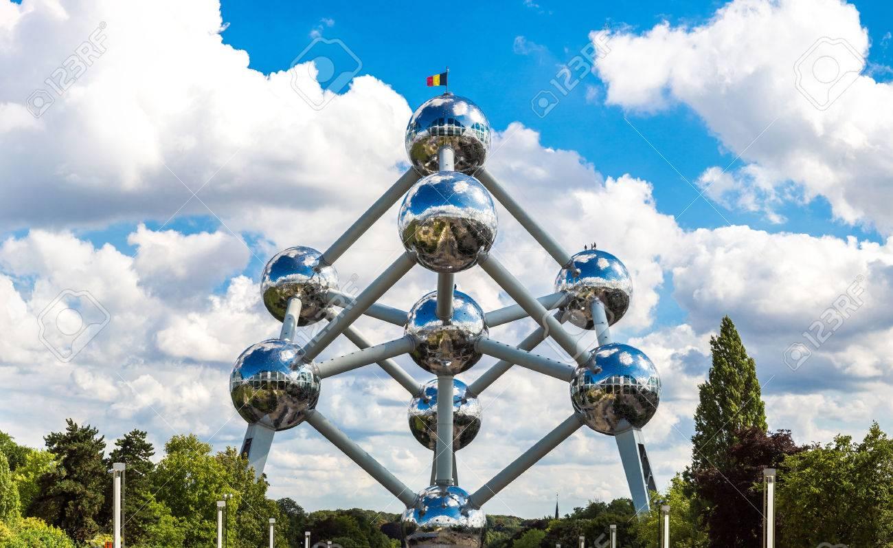 Atomium structure in summer day in Brussels, Belgium - 108787902