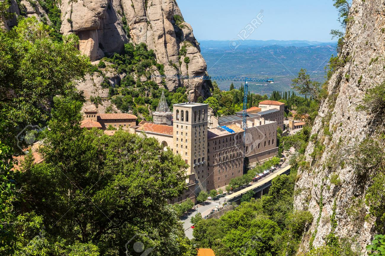 27fb332b32 Santa Maria De Montserrat Abbey In Monistrol