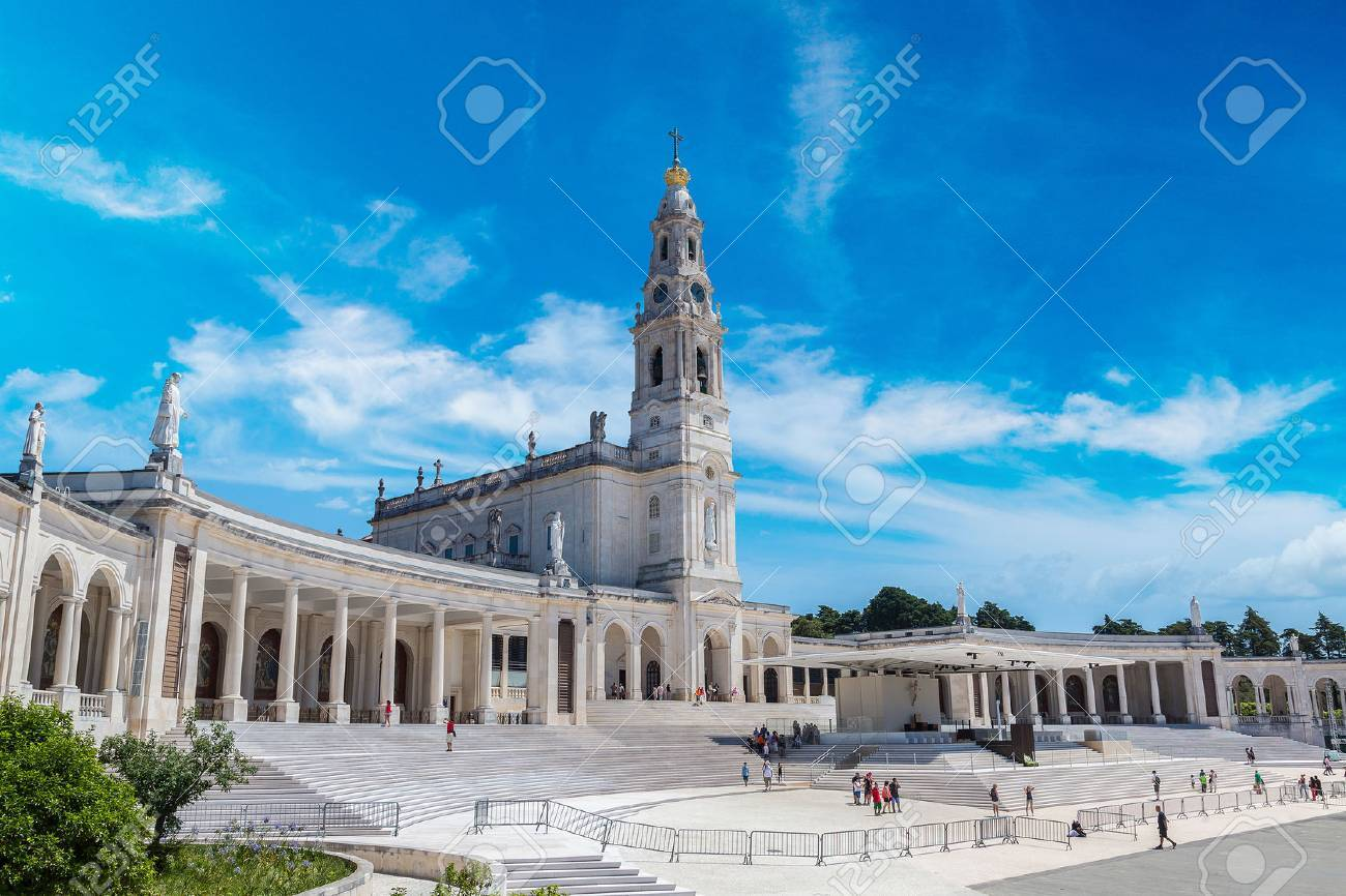 The Sanctuary of Fatima in a beautiful summer day, Portugal - 70648129