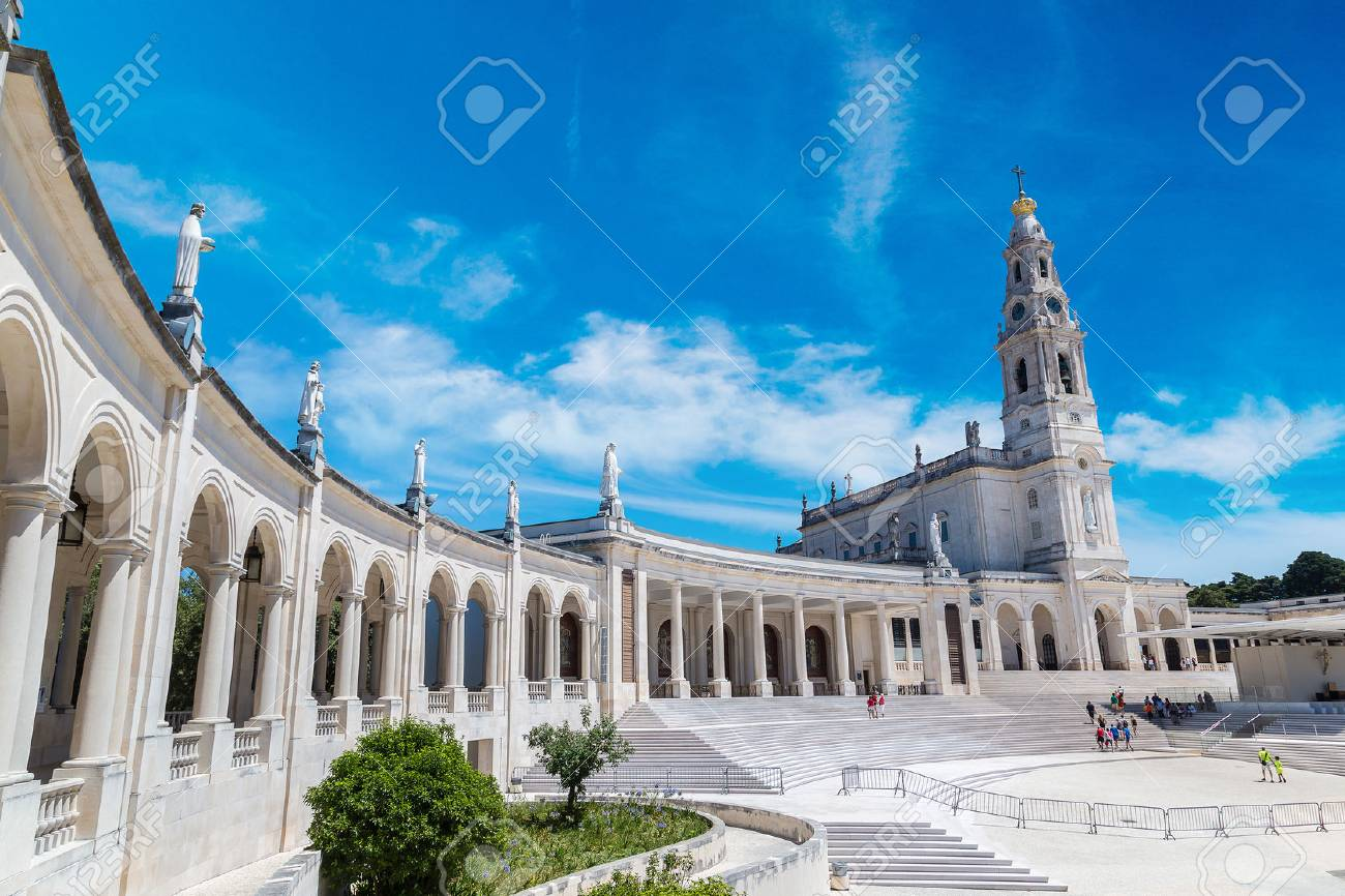 The Sanctuary of Fatima in a beautiful summer day, Portugal - 70758253