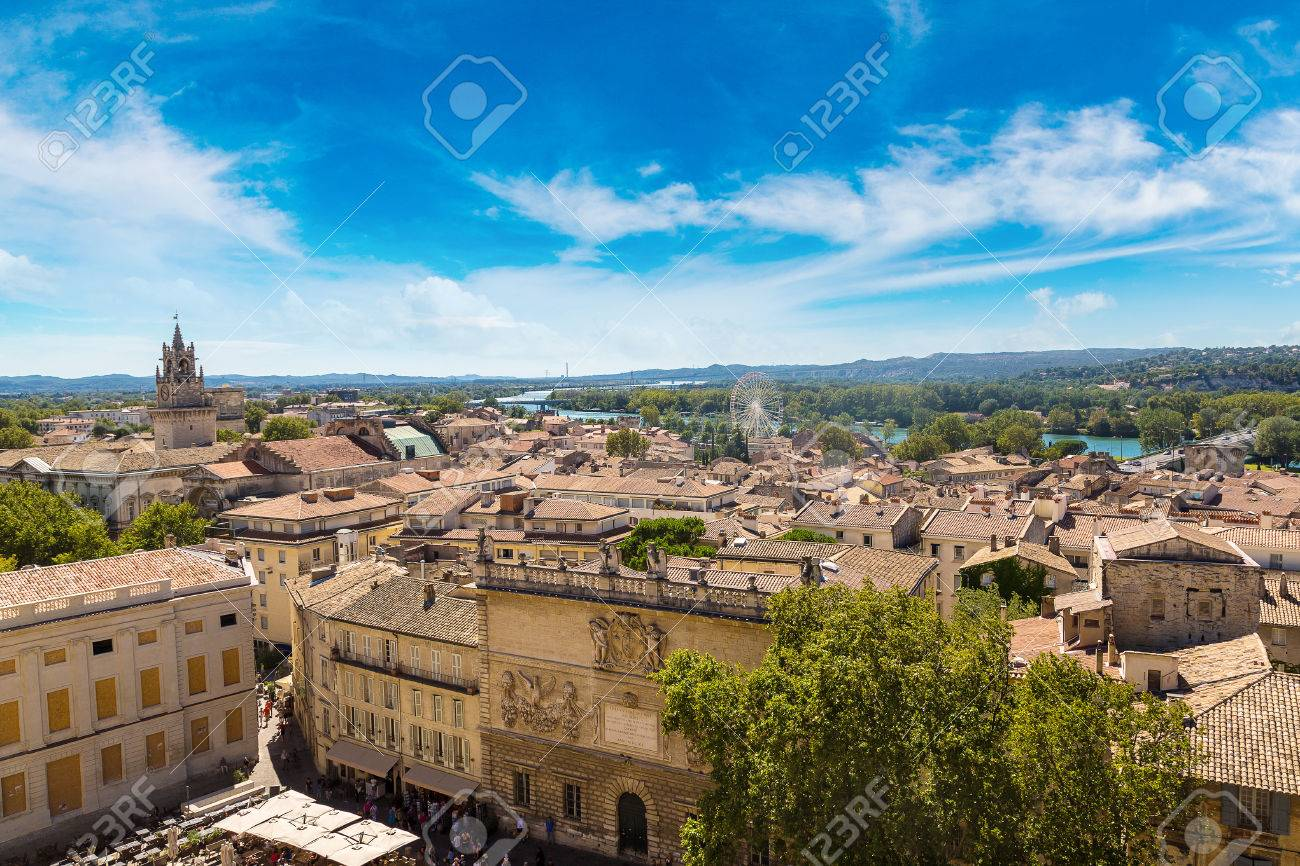 Panoramic aerial view of Avignon in a beautiful summer day, France - 70652357