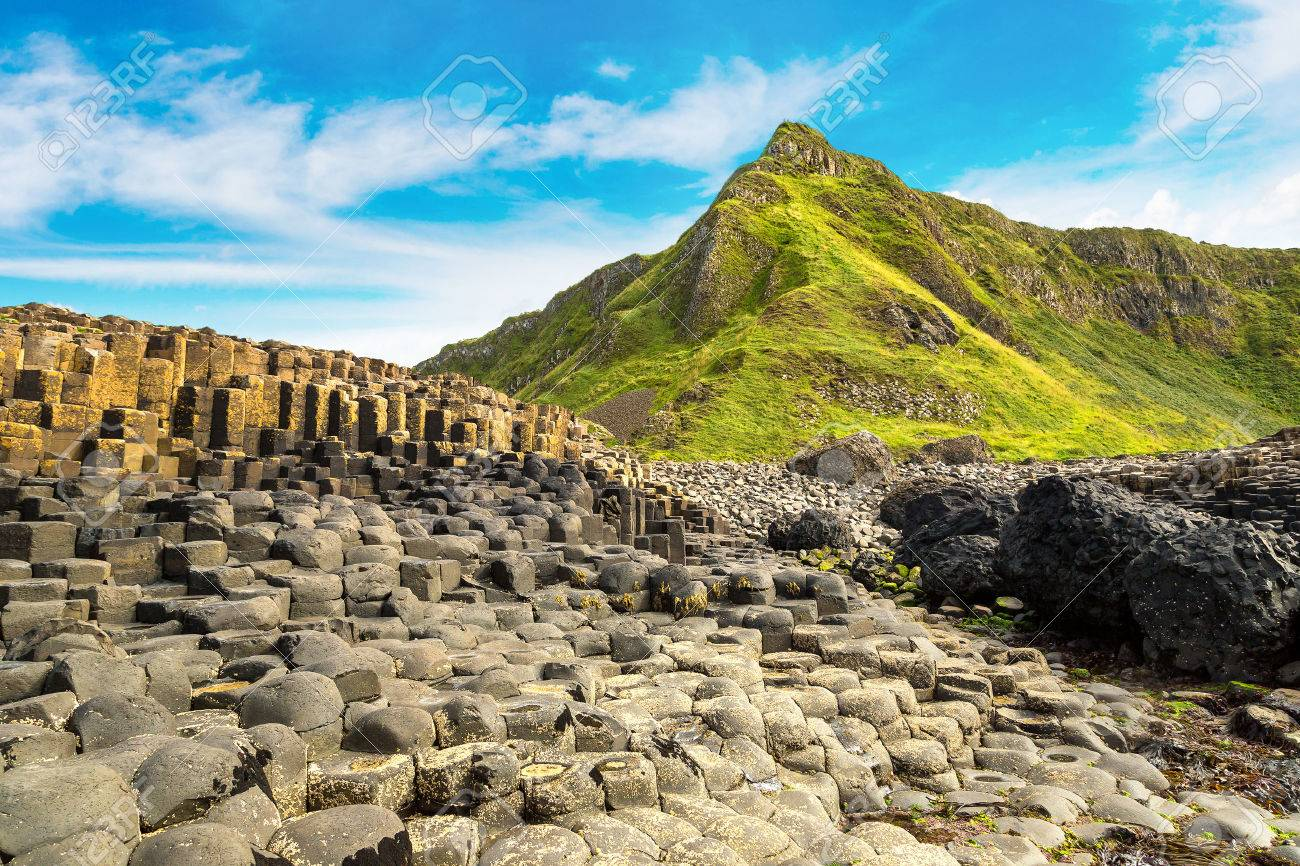 Giant's Causeway in a beautiful summer day, Northern Ireland - 70770305
