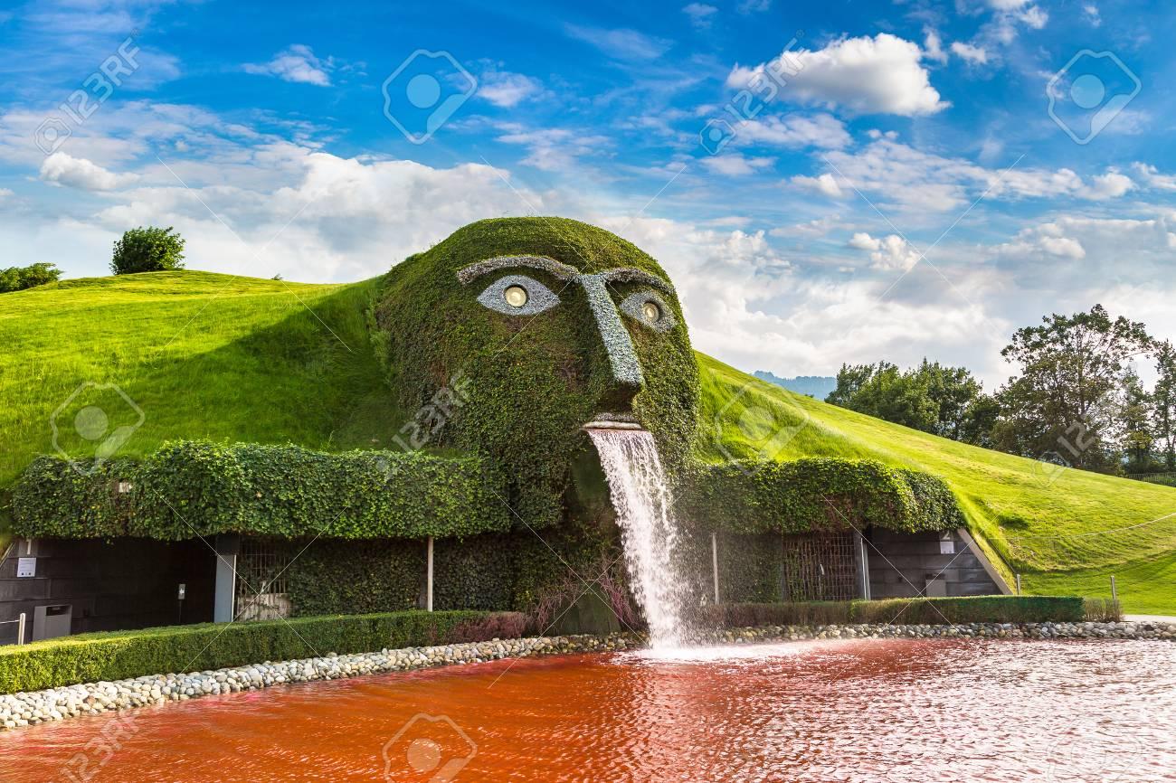 INNSBRUCK, AUSTRIA - JULY 25, 2017: Swarovski crystal worlds (Kristallwelten) museum in a beautiful summer day, Austria - 86572941