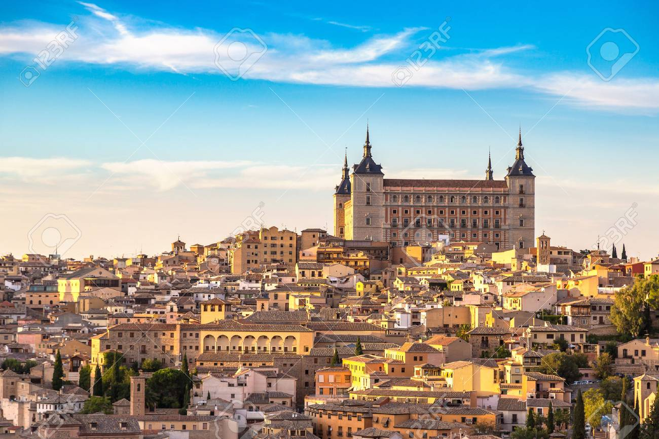 Panoramic cityscape of Toledo, Spain in a beautiful summer day - 89434329
