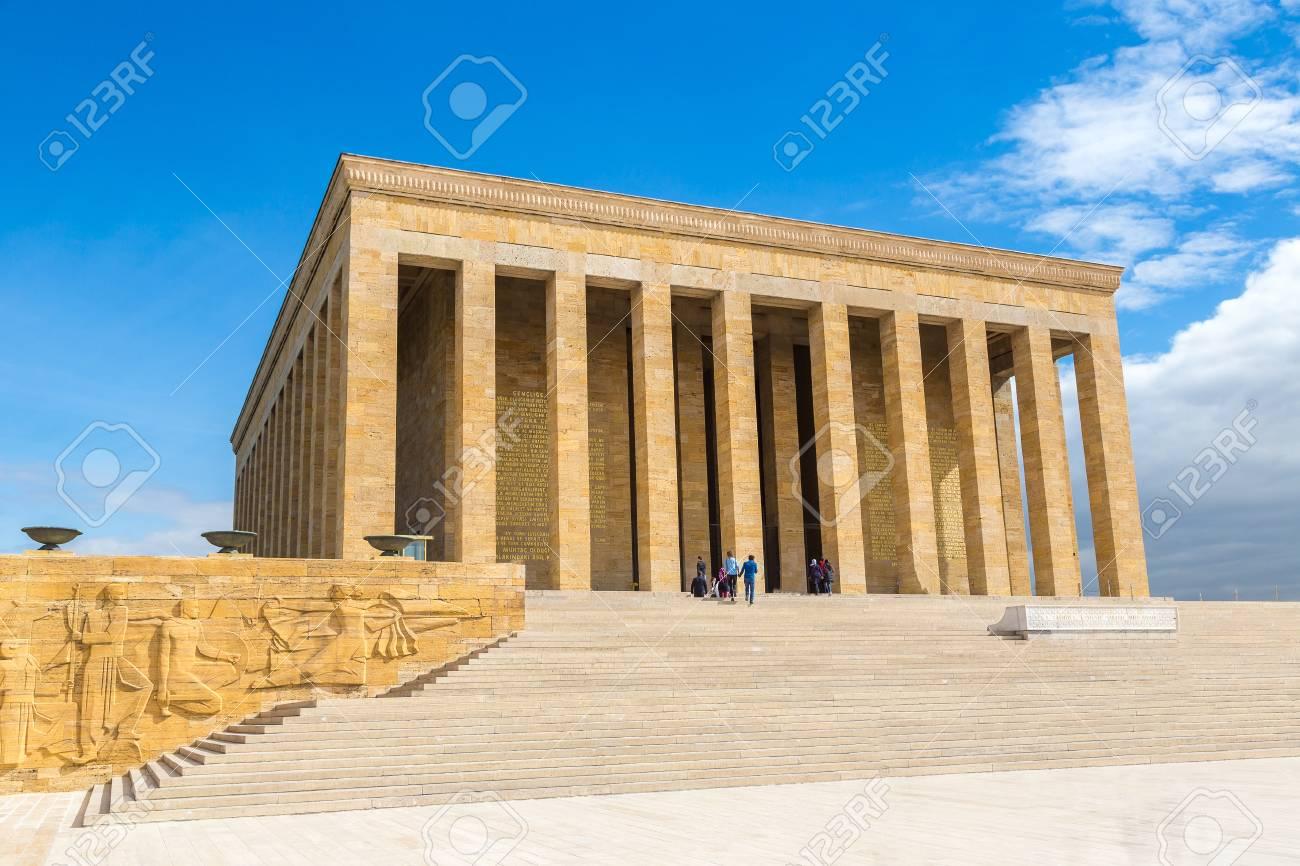 Anitkabir, mausoleum of Ataturk, Ankara, Turkey in a beautiful summer day - 89201971