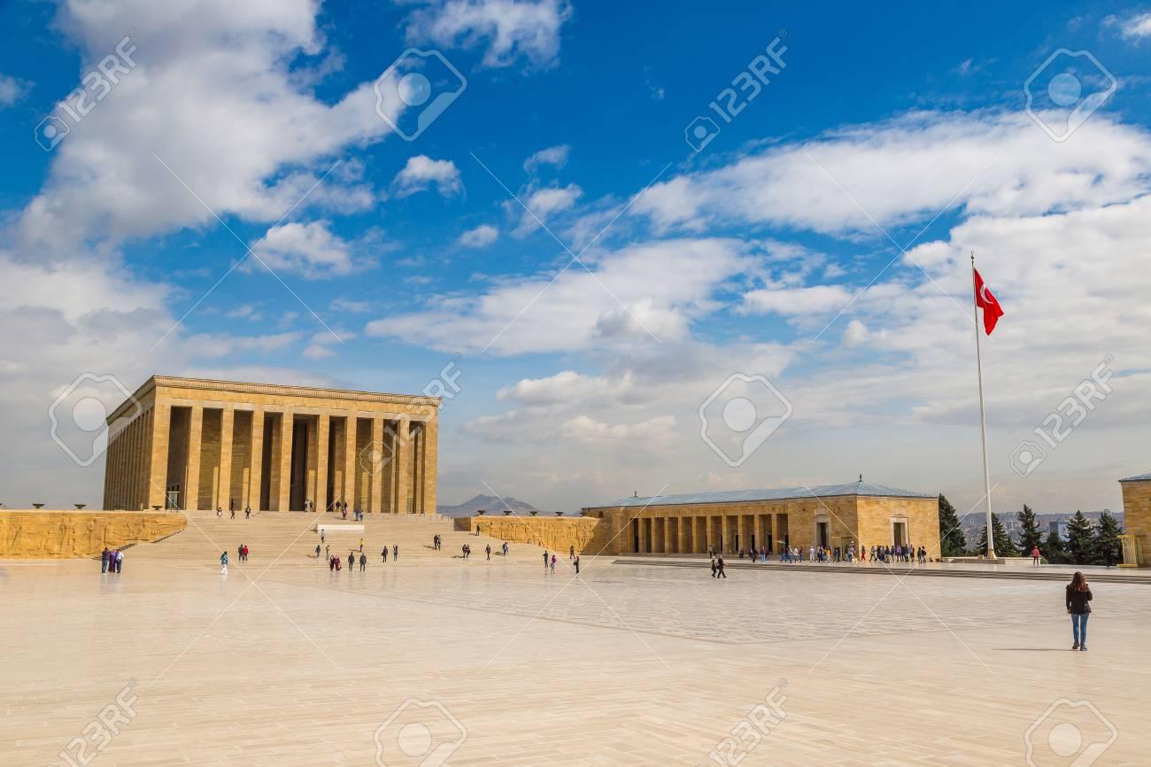 Anitkabir, mausoleum of Ataturk, Ankara, Turkey in a beautiful summer day - 89204642