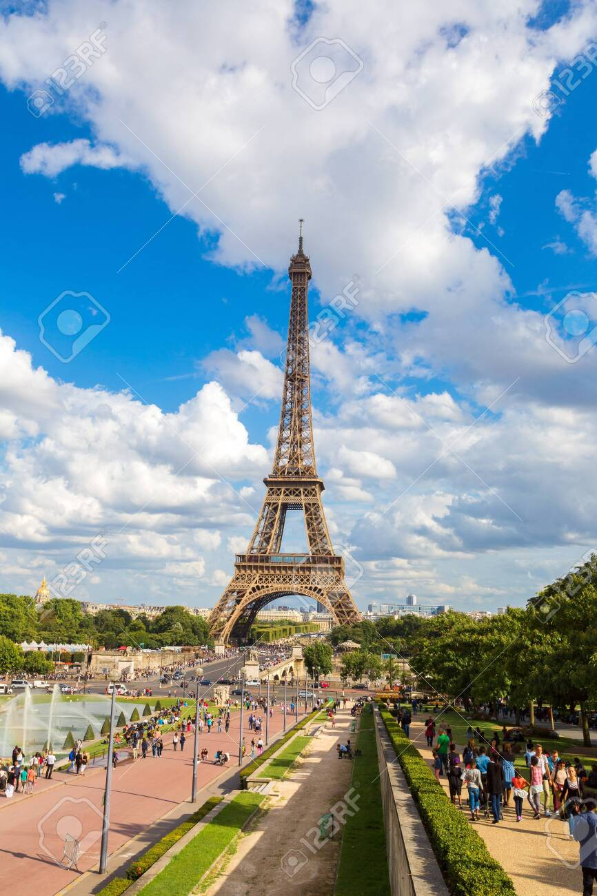 PARIS, FRANCE - JULY 14, 2014: Eiffel Tower most visited monument in France and the most famous symbol of Paris - 142971173