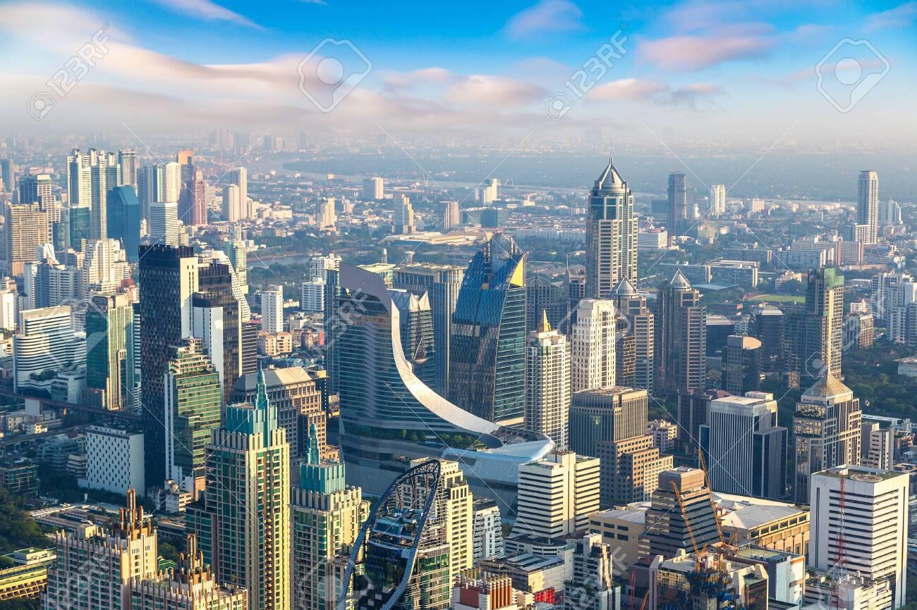 Aerial view of Bangkok in a summer morning - 125462908