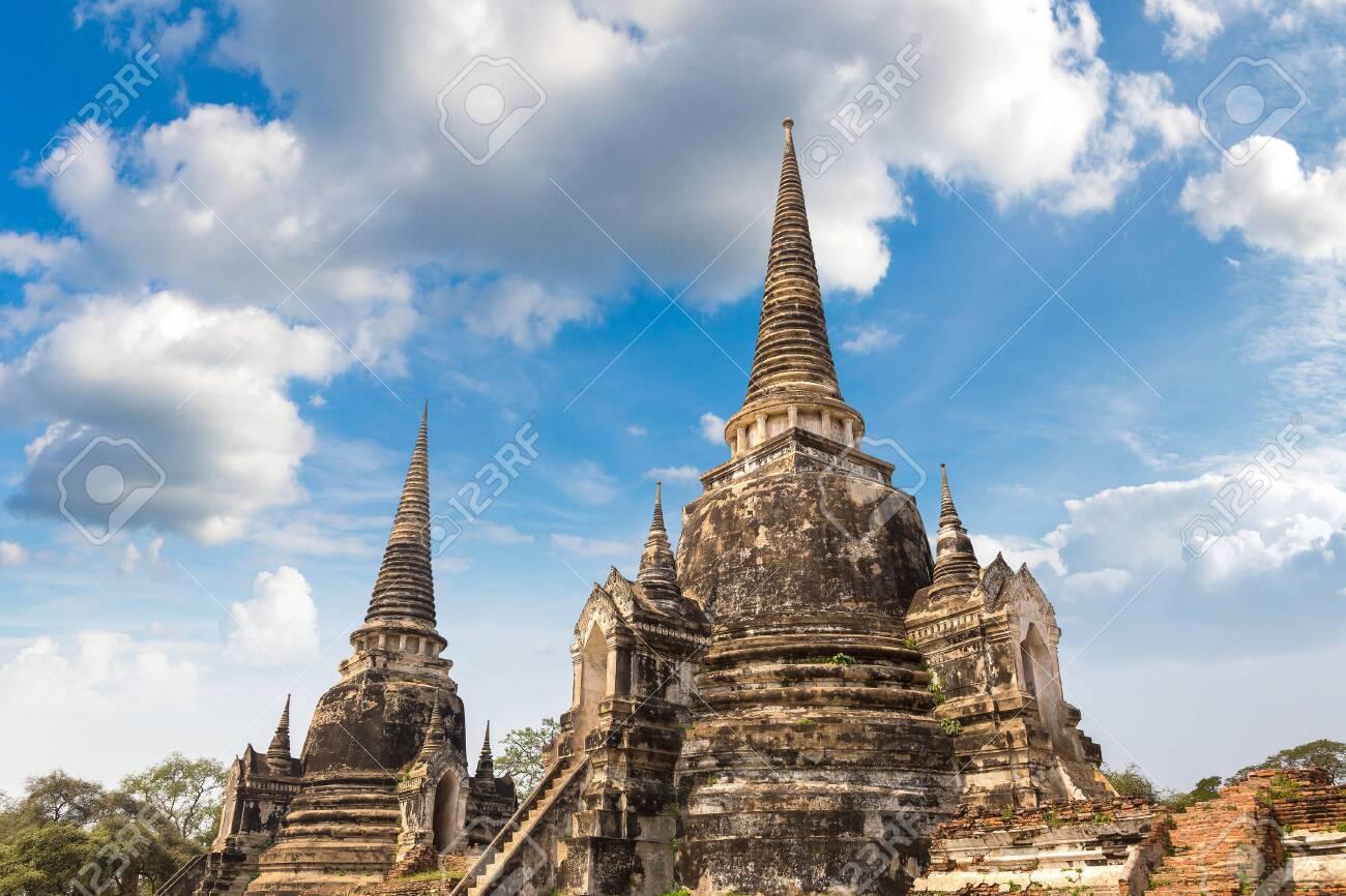 Ayutthaya Historical Park in Ayutthaya, Thailand in a summer day - 146200100