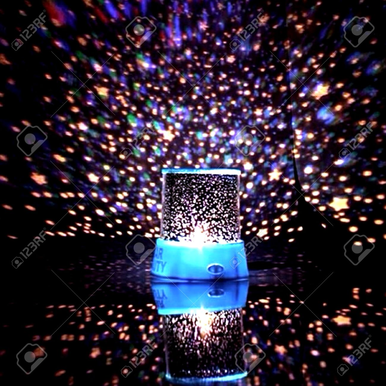 Light Of Galaxy Lamp Stock Photo Picture And Royalty Free Image