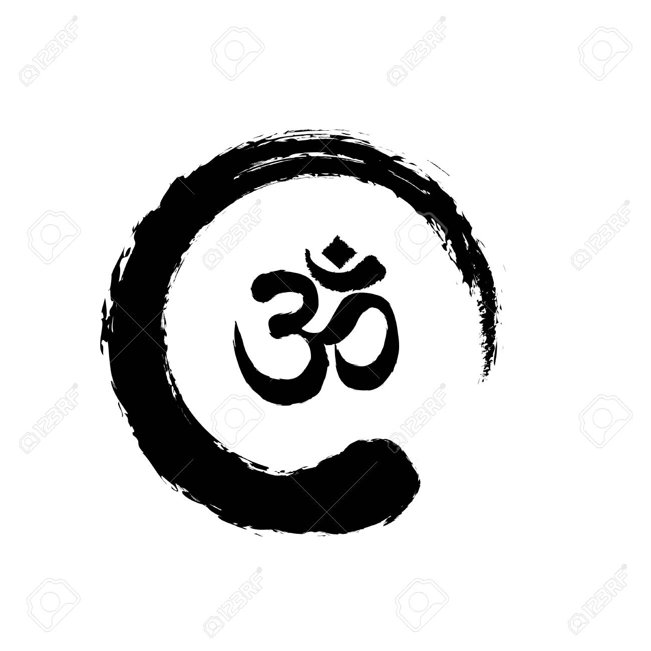 Zen And Om Symbol Icon Design Royalty Free Cliparts Vectors And Stock Illustration Image 120074266