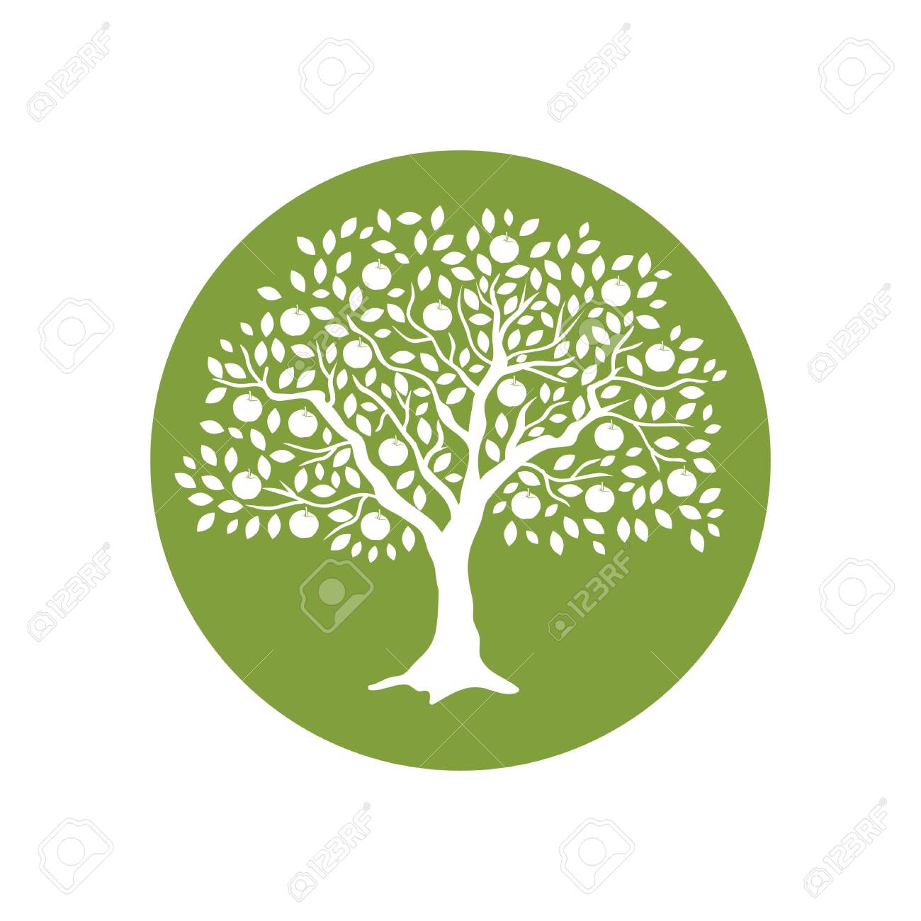 Apple Tree Logo Icon Royalty Free Cliparts Vectors And Stock Illustration Image 136277749