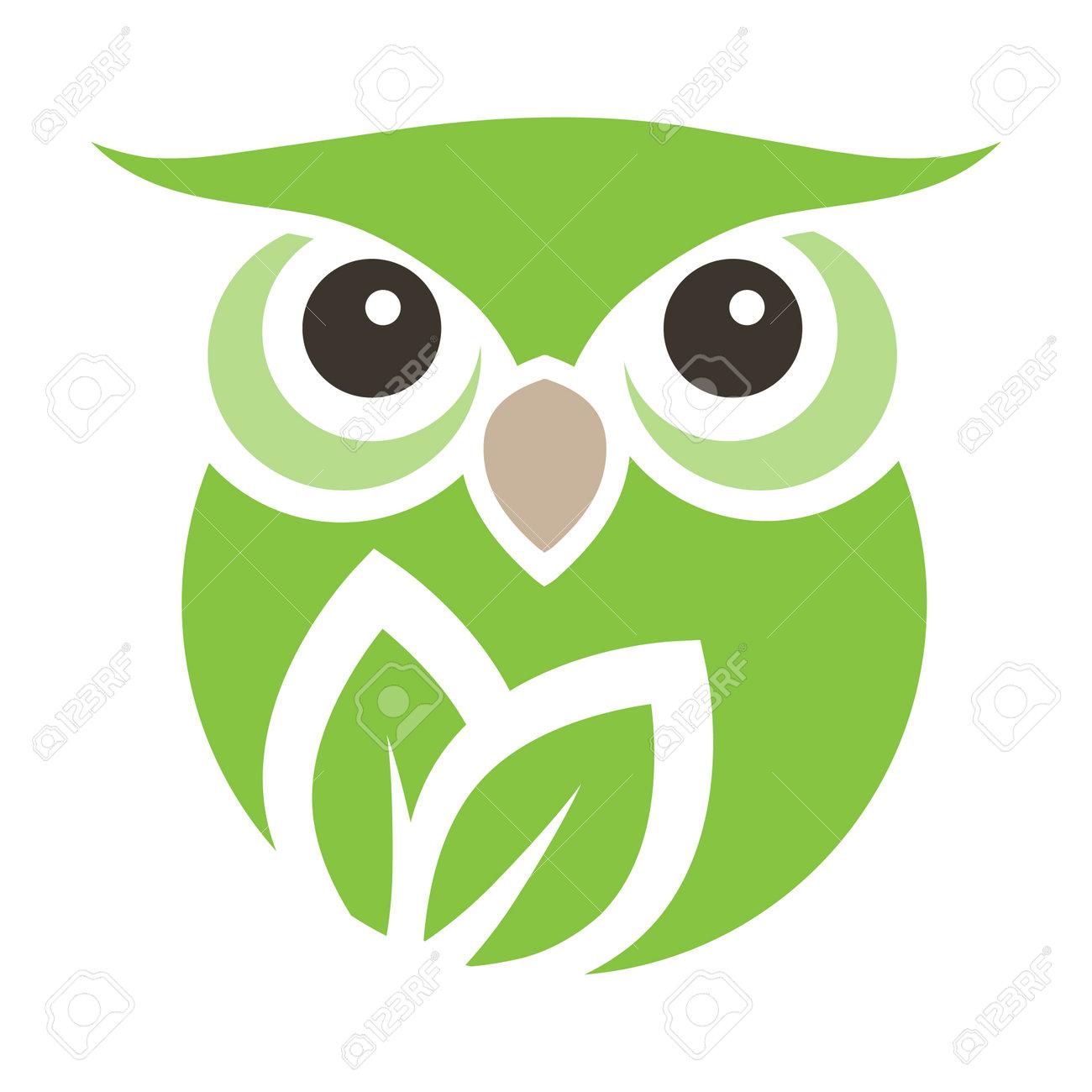 leaves inside owl - 169423773