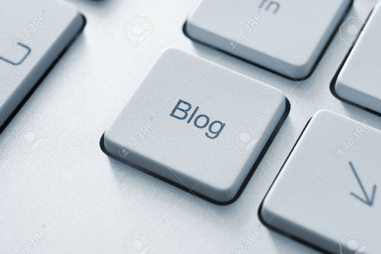 Blog button on the keyboard. Toned Image. Stock Photo - 10841802