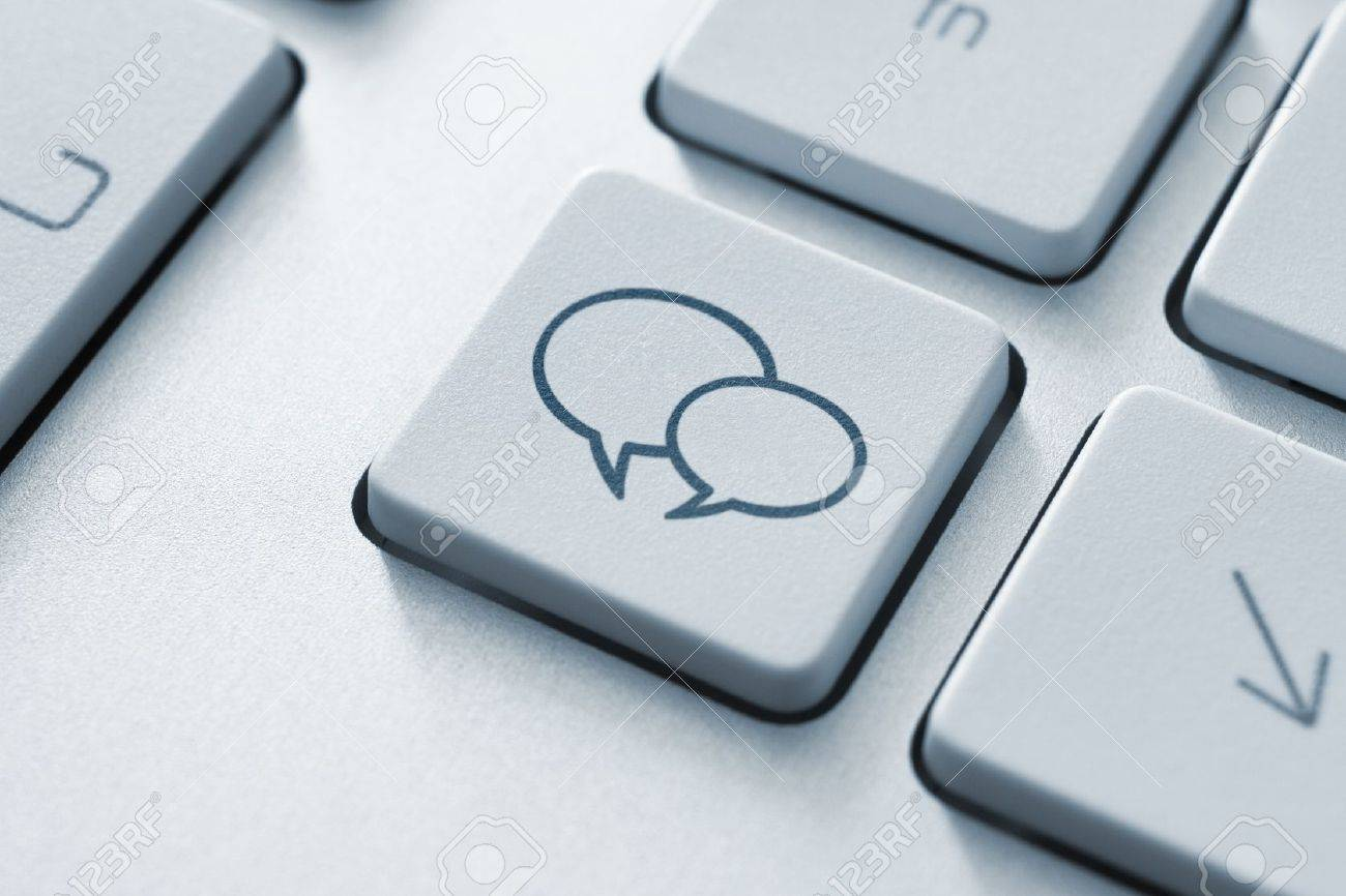 Social media key button on the keyboard. Toned Image. Stock Photo - 12449125