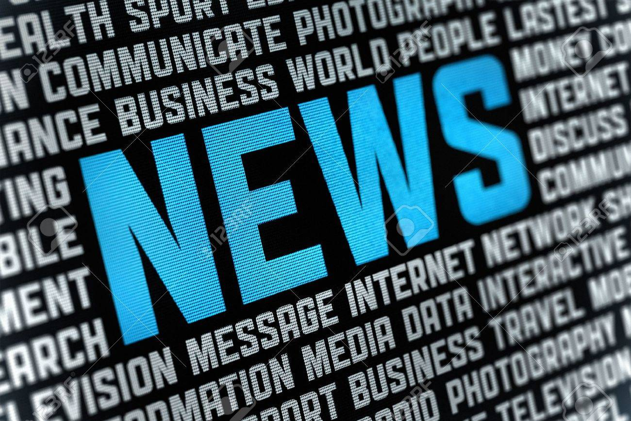 Digital poster with News headline and keywords on news theme  Selective focus on headline text Stock Photo - 12449110