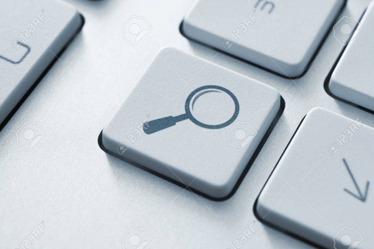 Search button on the keyboard  Toned Image Stock Photo - 12449122