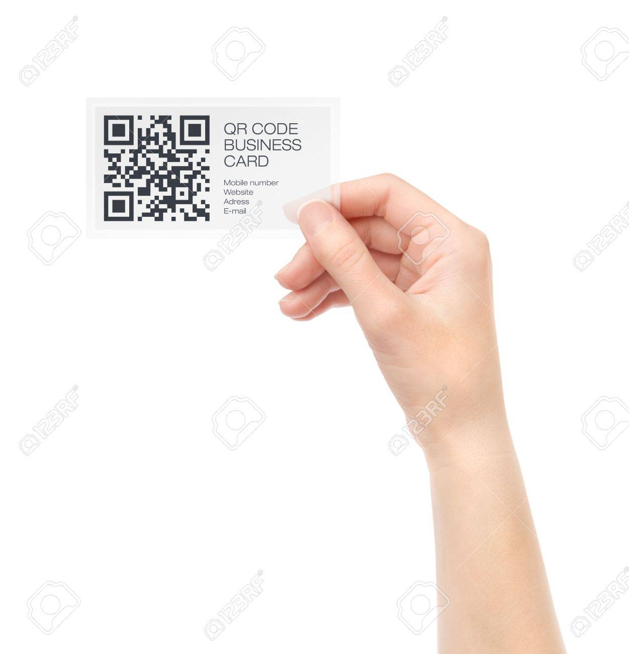 Barcode business card gallery free business cards barcode for business card choice image free business cards female hand holding transparent business card with magicingreecefo Choice Image