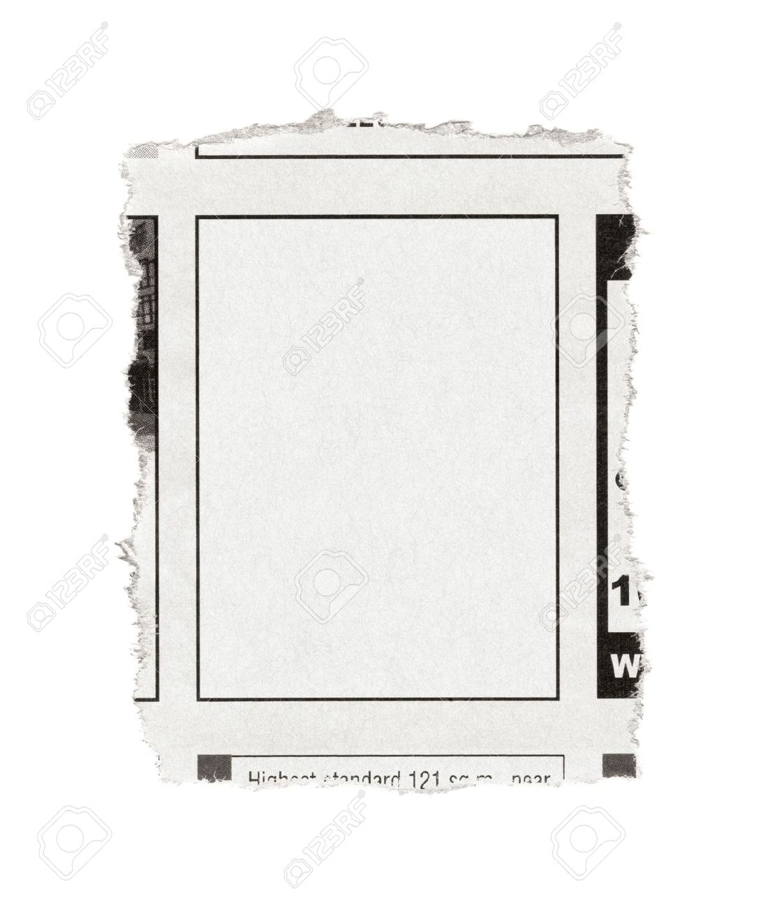 Piece Of Paper With Blank Advertisement Space Torn Out From ...