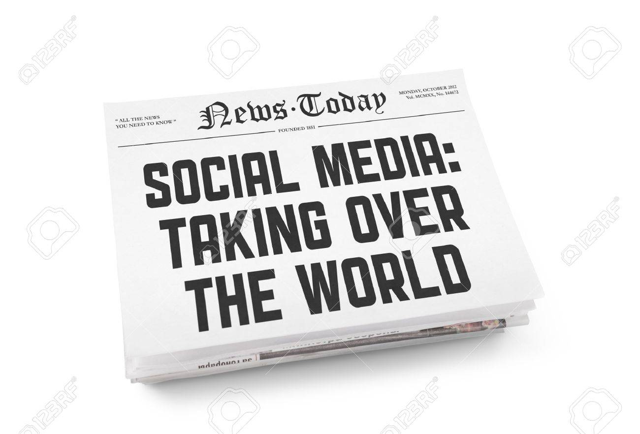 A stack of newspapers with headline Stock Photo - 16906605