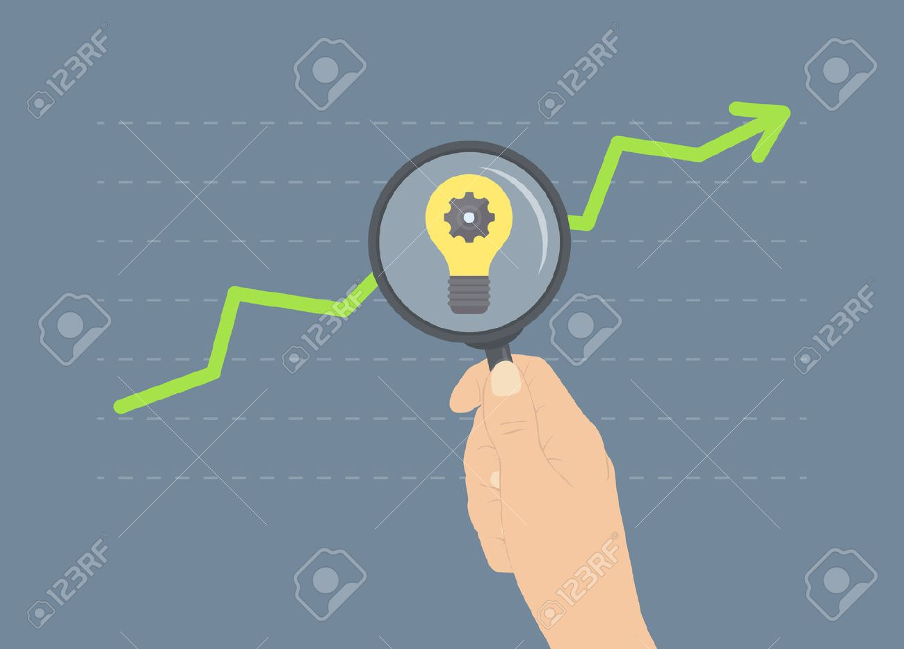 Flat design modern illustration concept of analyzing business rise, ideas for future growth, analytics of further financial and economic future Stock Vector - 24637644