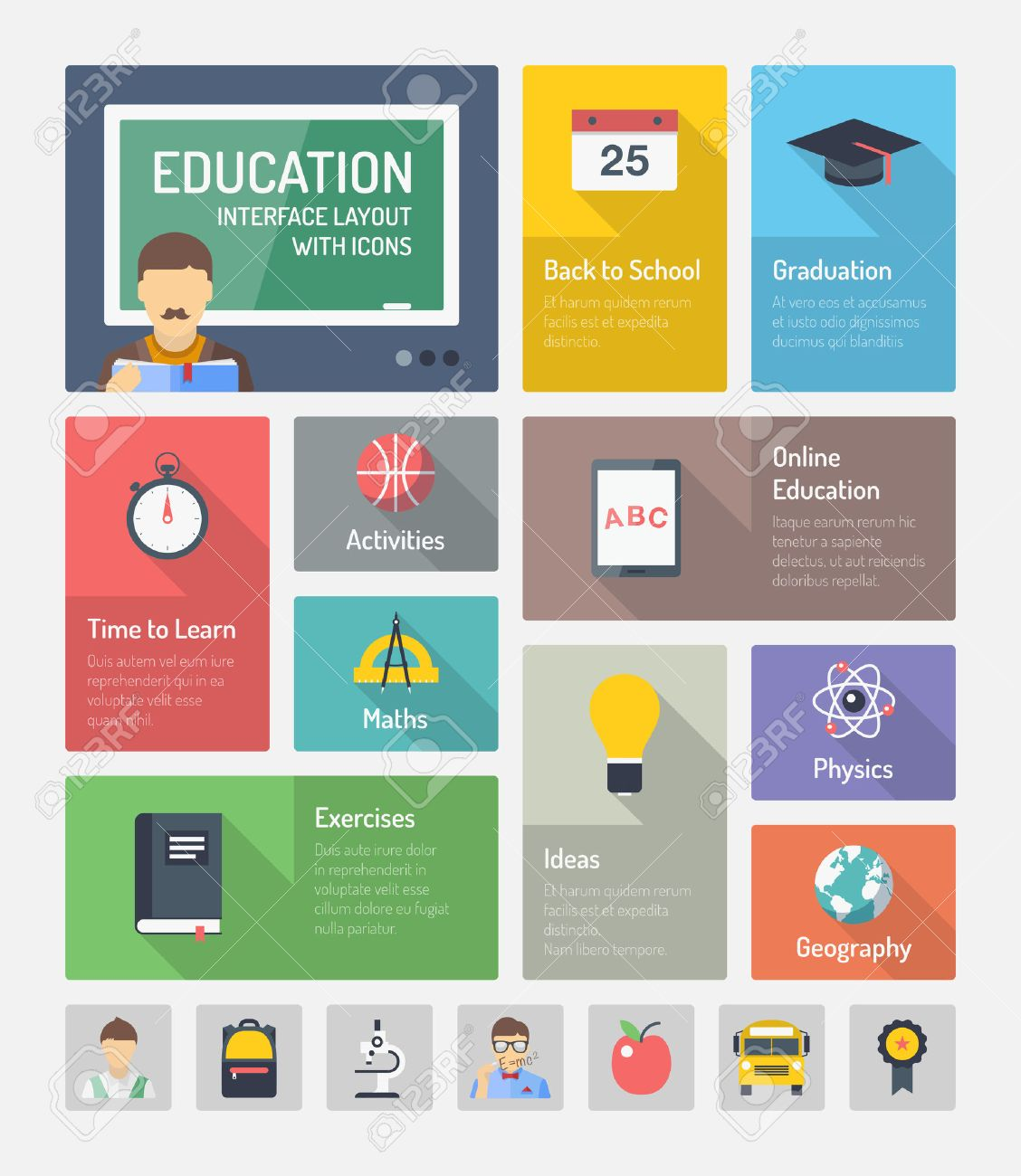Flat Design Style Modern Vector Illustration Concept Of Infographic ...