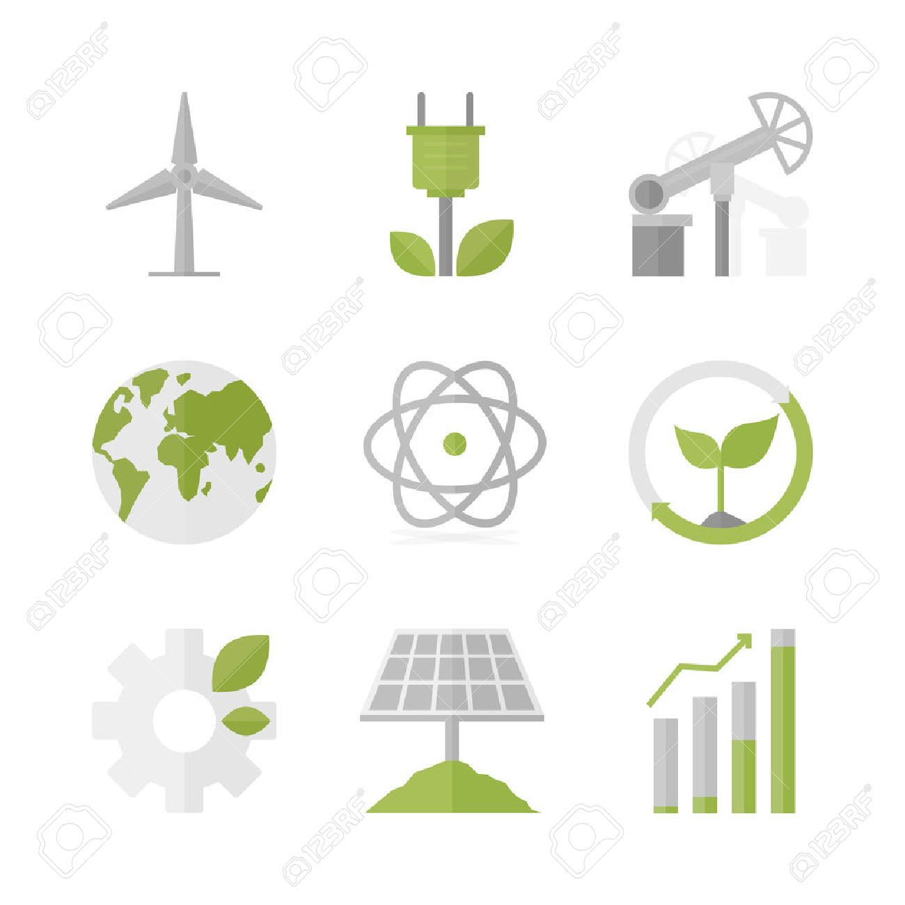 21140 natural resources cliparts stock vector and royalty free flat icons set of natural renewable energy buycottarizona