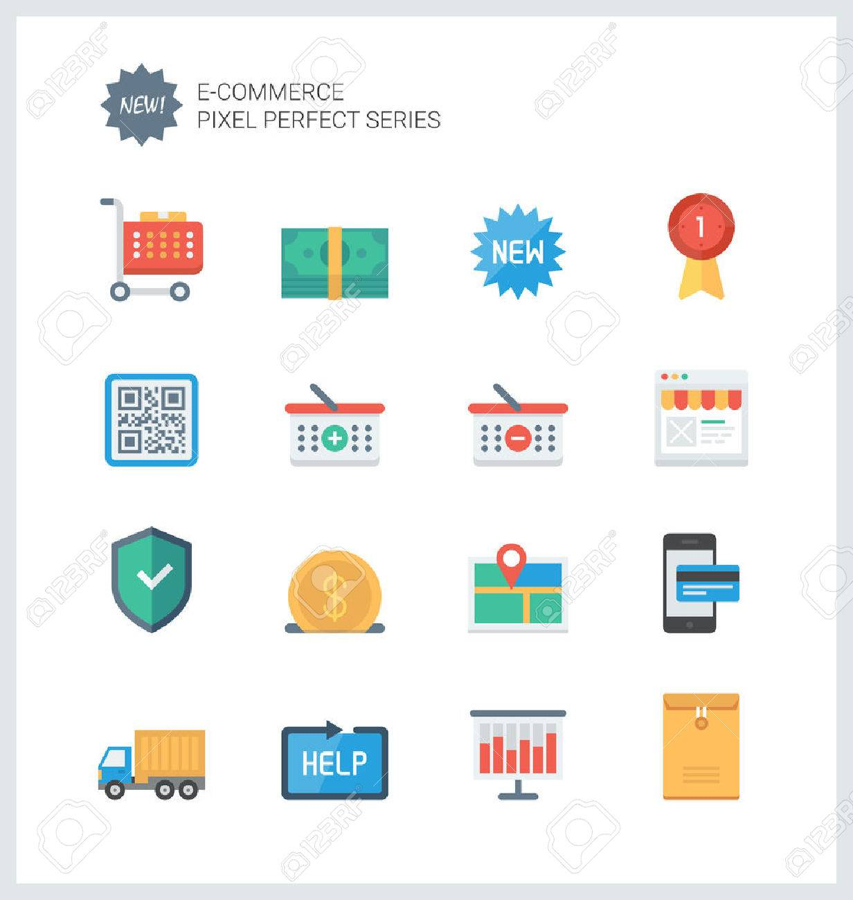 Pixel perfect flat icons set of e commerce shopping symbol online pixel perfect flat icons set of e commerce shopping symbol online shop elements and altavistaventures Images