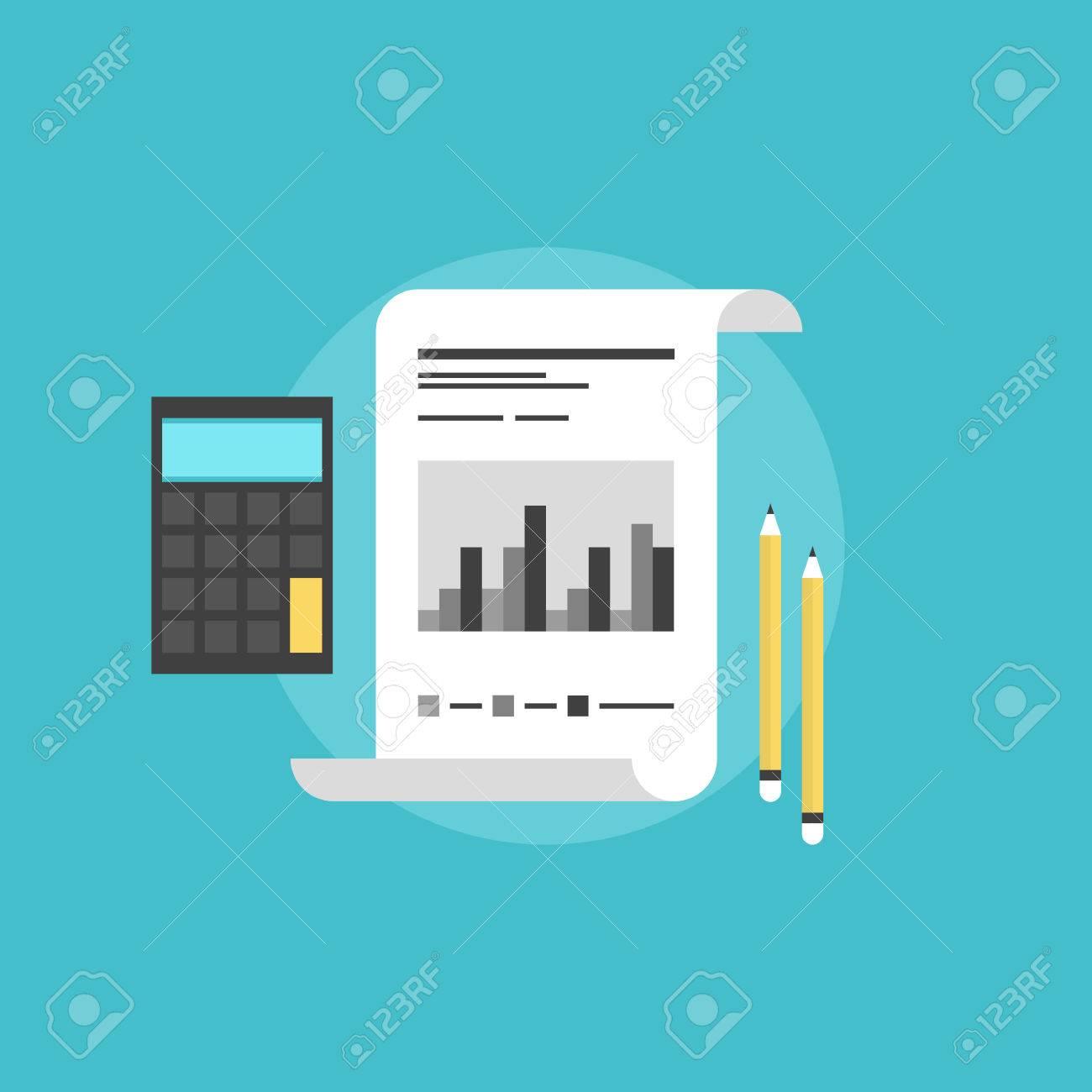 会社財務会計、計算機、鉛筆、企業データを分析する市場の統計量