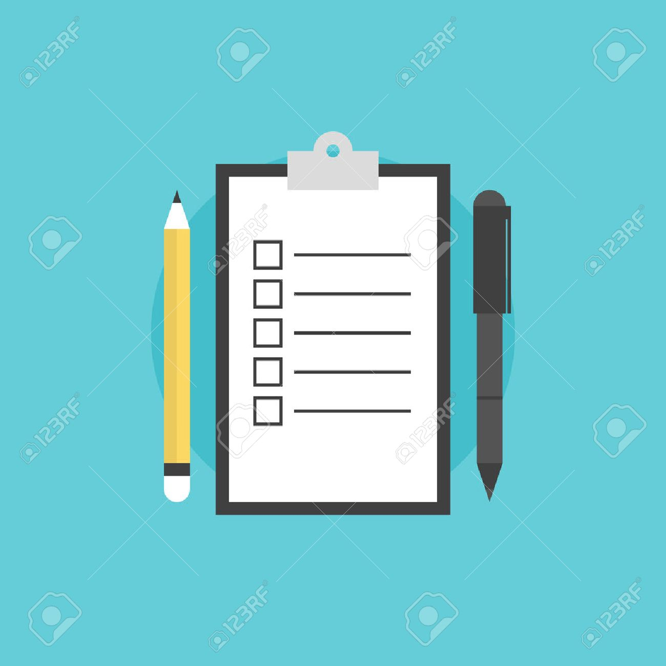 clipboard with blank checklist form to do list and planning