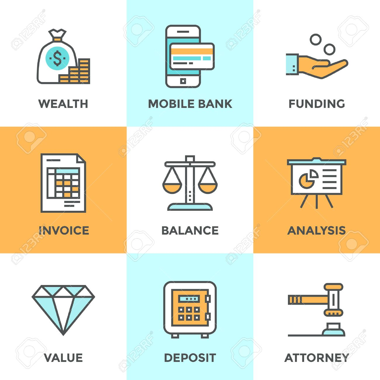 invoice design stock photos pictures royalty invoice invoice design line icons set flat design elements of financial investment for development business
