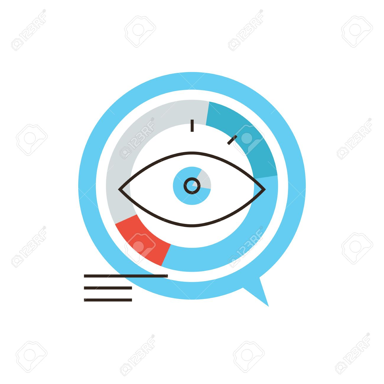 Thin line icon with flat design element of data visualization thin line icon with flat design element of data visualization infographic market visual diagram pooptronica Image collections