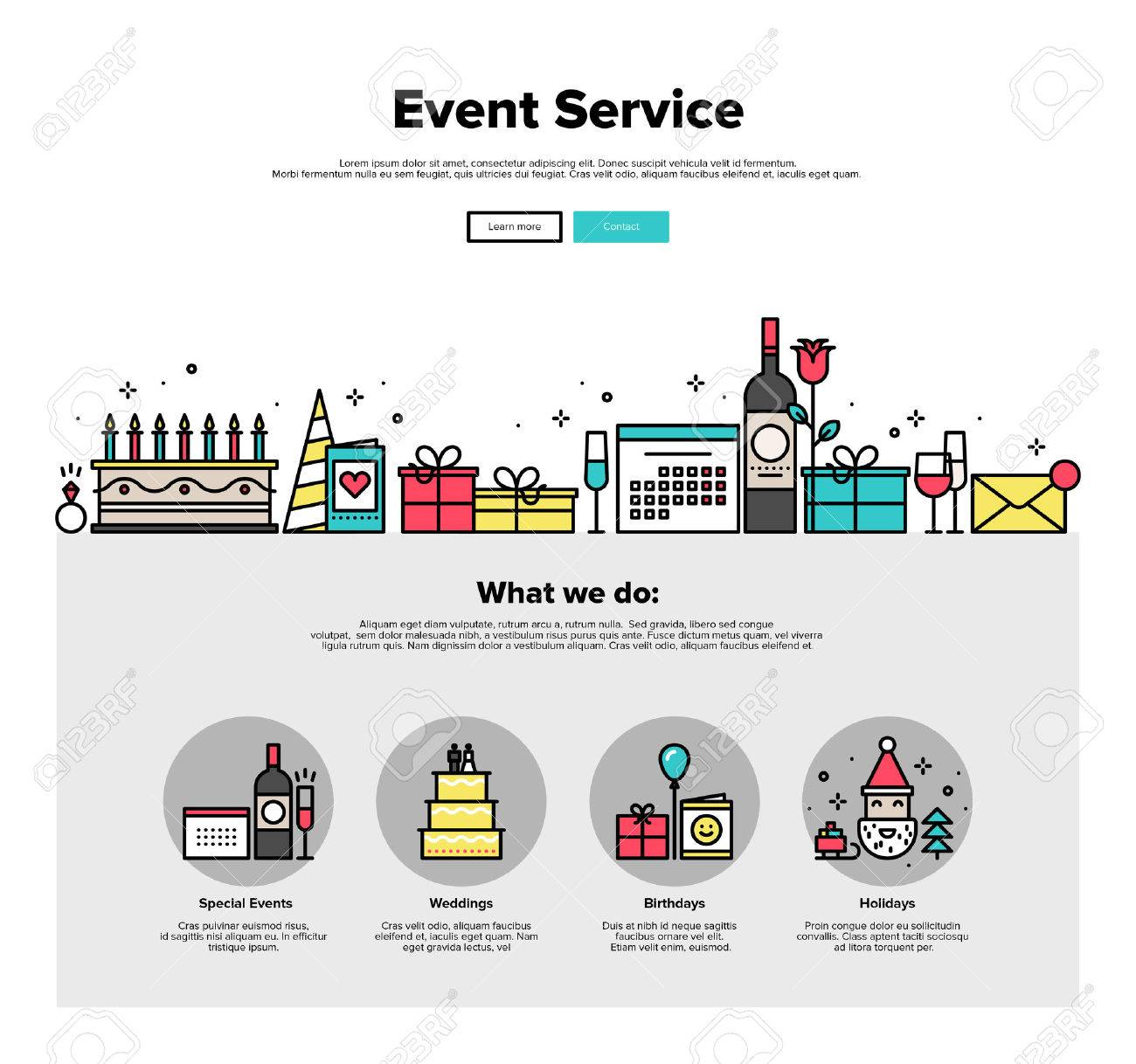party layout template