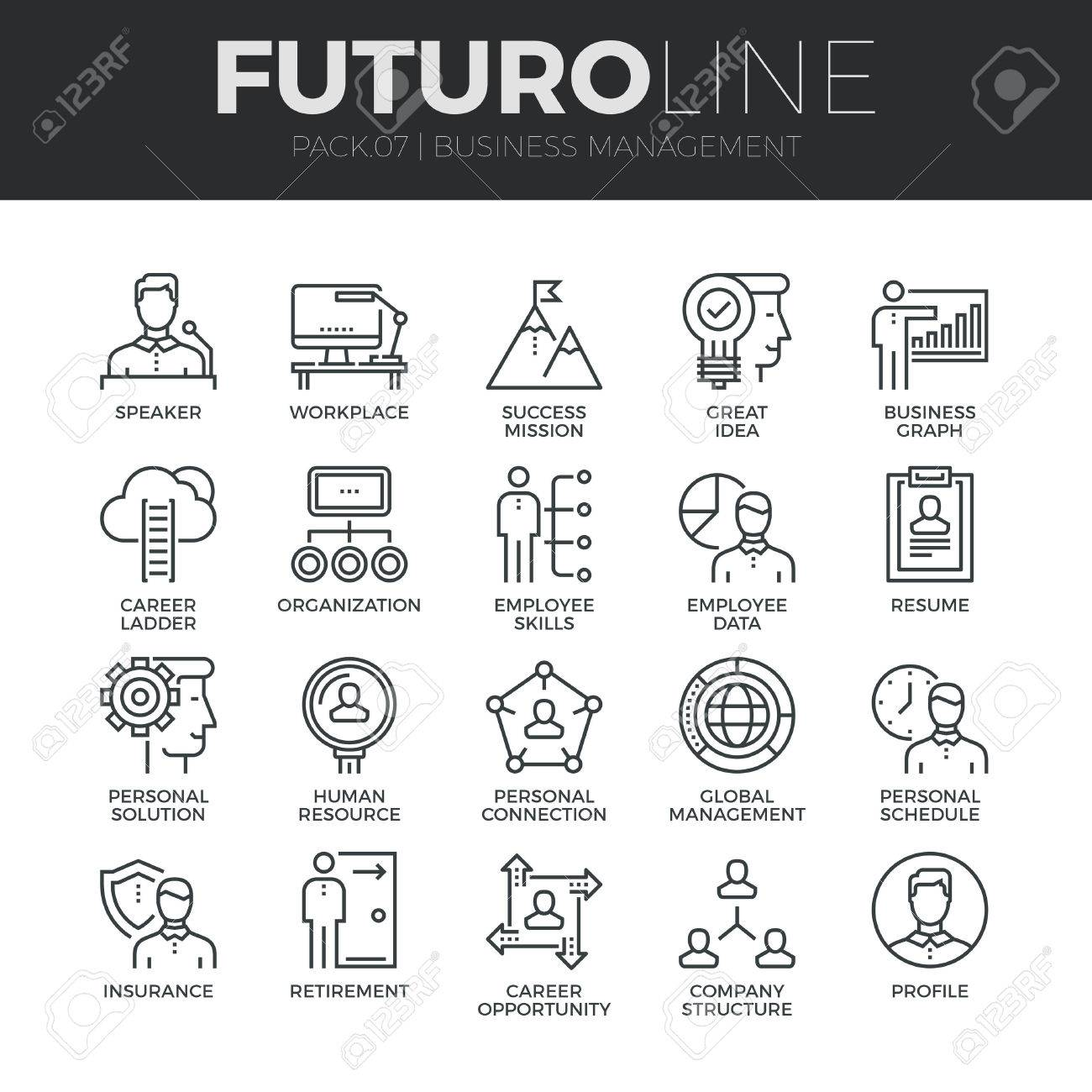 modern thin line icons set of business people management employee modern thin line icons set of business people management employee organization premium quality outline