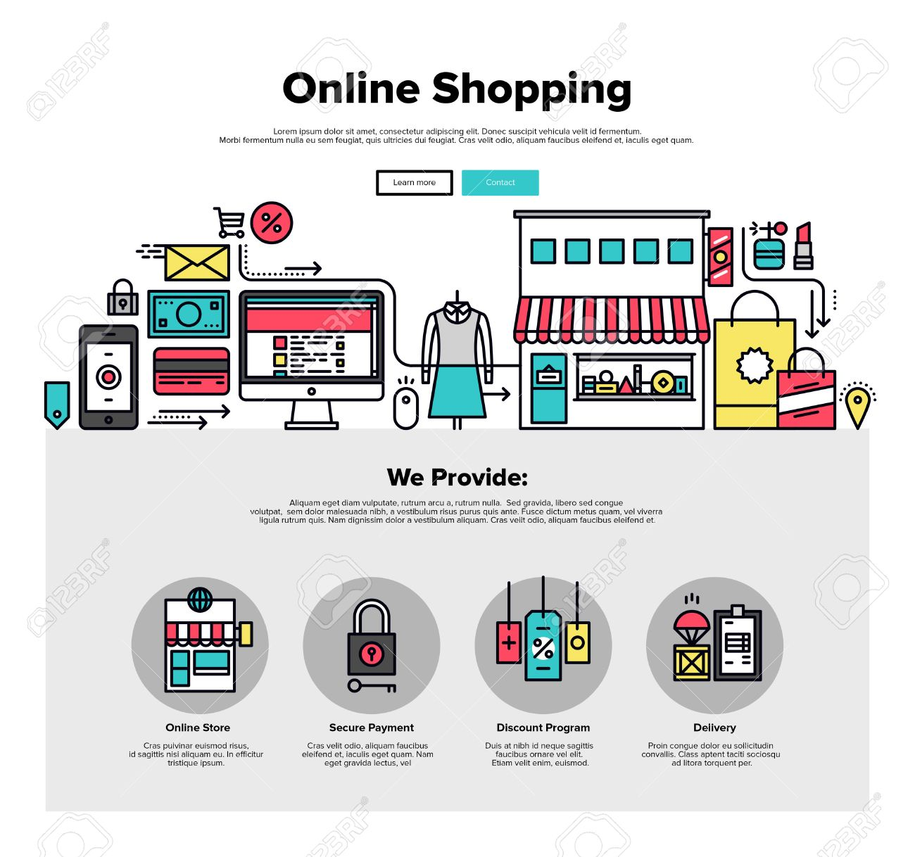595 Online Marketplace Stock Vector Illustration And Royalty Free ...