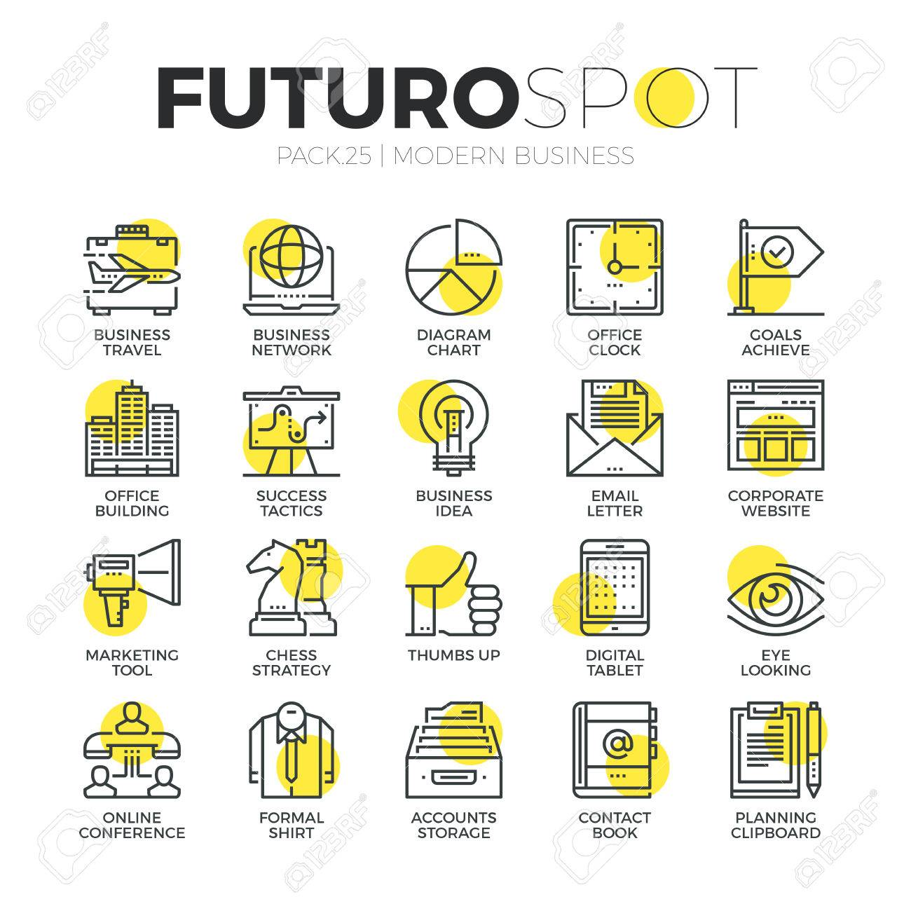 Stroke line icons set of doing business using marketing technology ideas. Modern flat linear pictogram concept. Premium quality outline symbol collection. Simple vector material design of web graphics. - 52340932