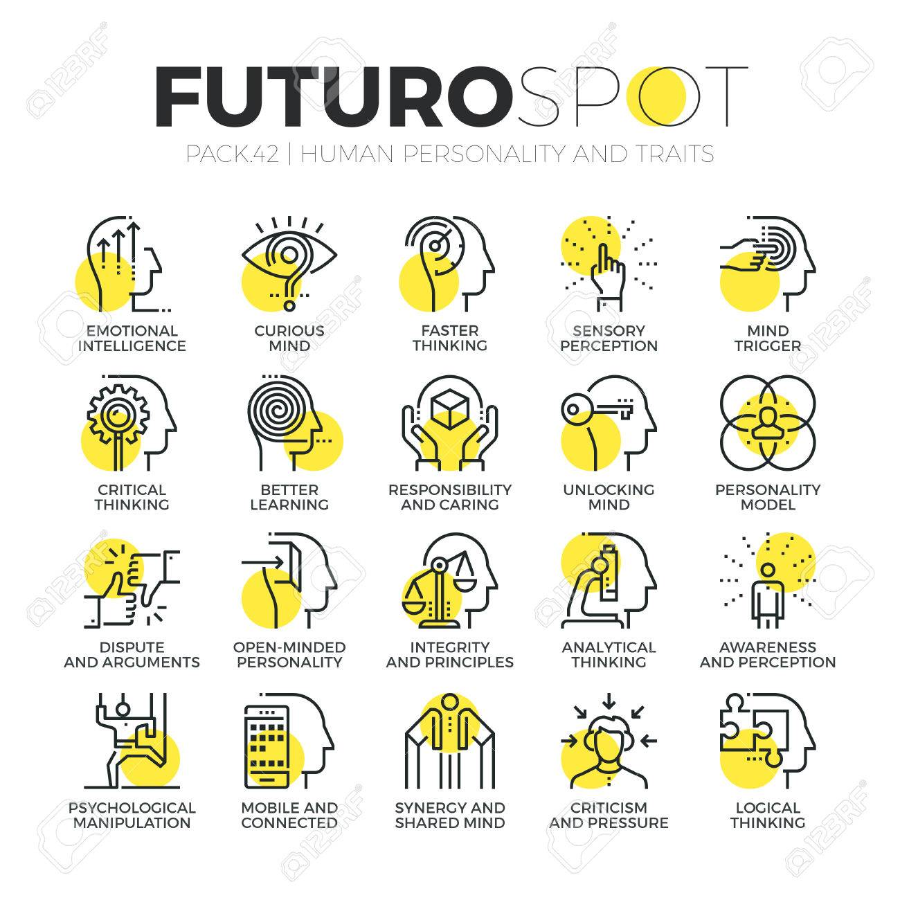 stroke line icons set of human personality traits mind psychology stroke line icons set of human personality traits mind psychology skills modern flat linear