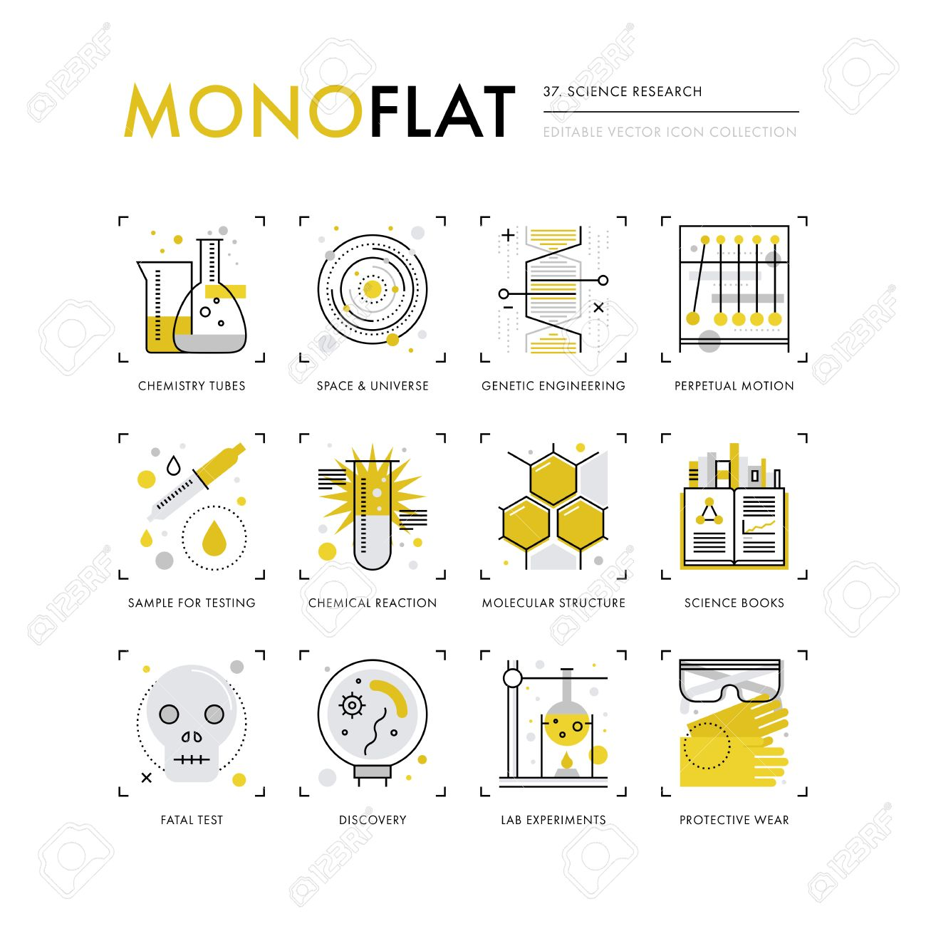 Infographics icons collection of scientific method genetic infographics icons collection of scientific method genetic engineering chemistry lab tubes modern thin ccuart Images
