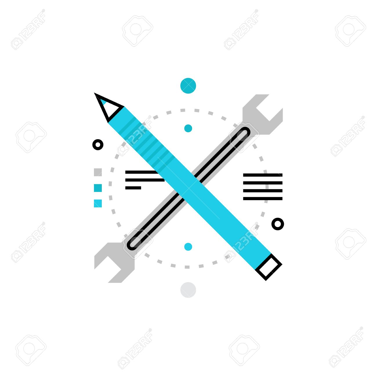 Modern Vector Icon Of Development Tools Architecture And Engineering Instruments Premium Quality Illustration