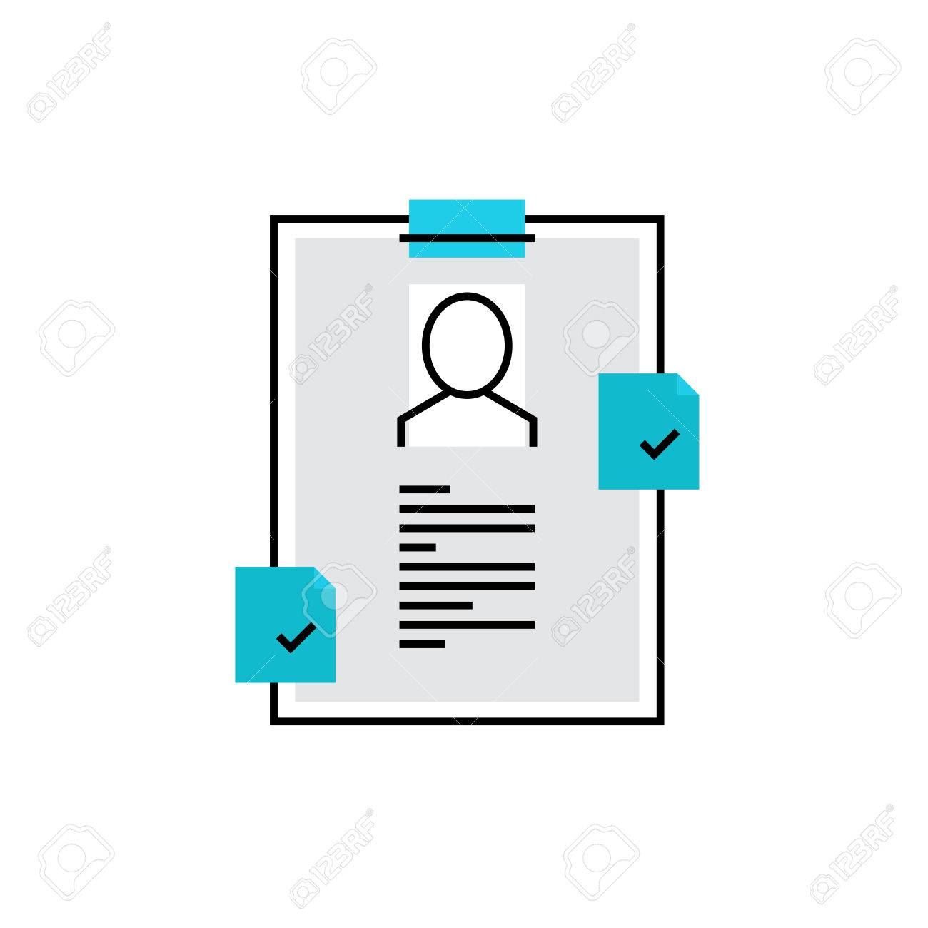 modern vector icon of personal recruitment information cv modern vector icon of personal recruitment information cv document biography premium quality vector