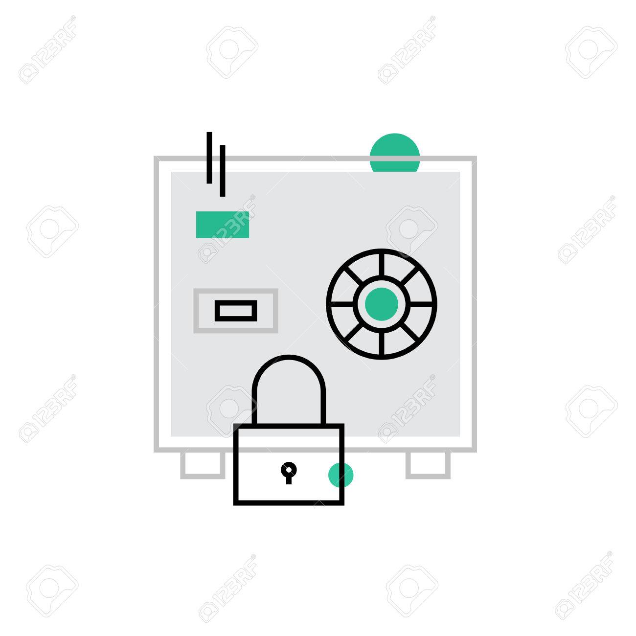 Diagram Of A Safety Box Trusted Wiring Safe Fuse Modern Vector Icon Secured Cash Protection And Money Home