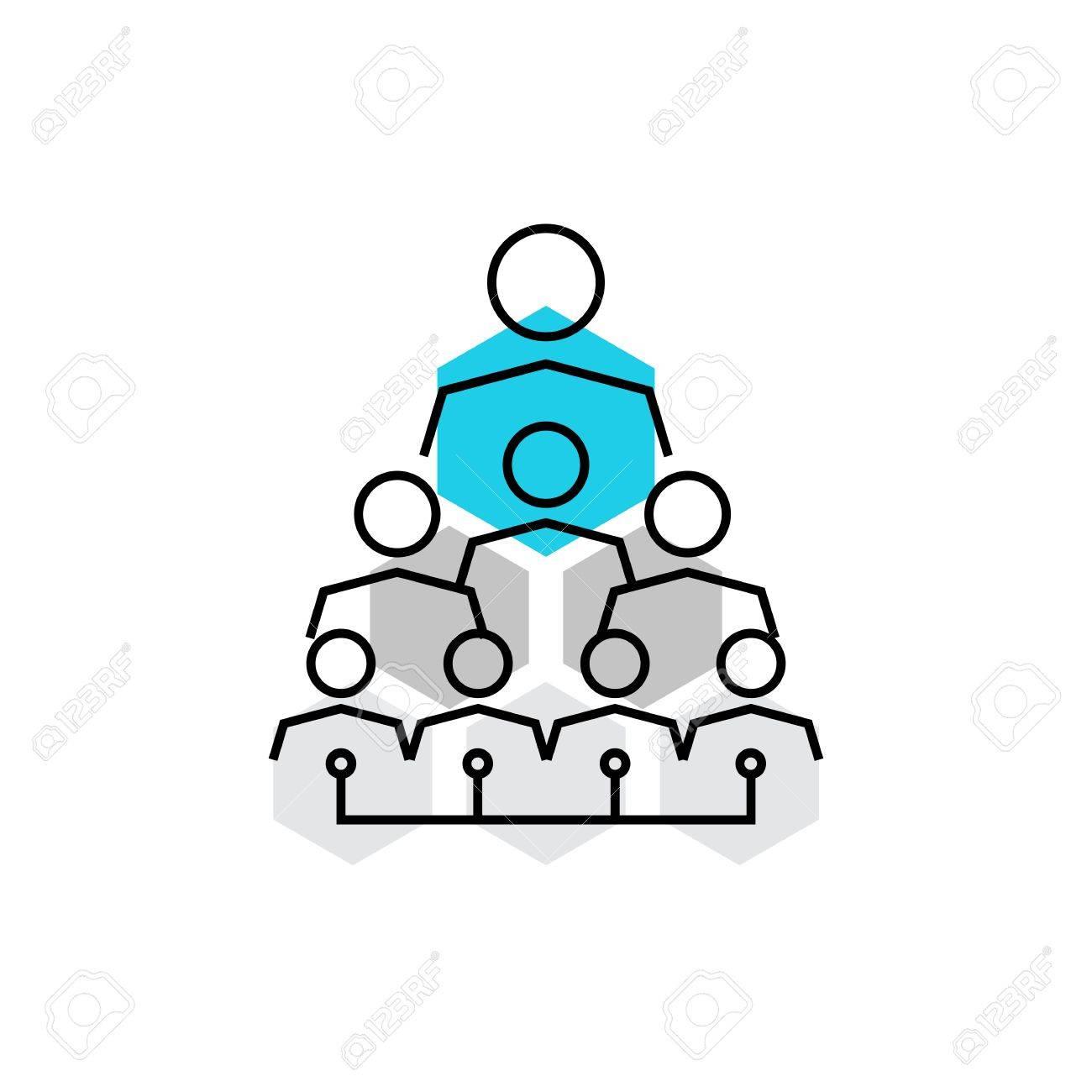 Icono De Vector Moderna De La Estructura De La Empresa La Jerarquía Corporativa Y Organización De Empleados Calidad Ilustración Vectorial Concepto