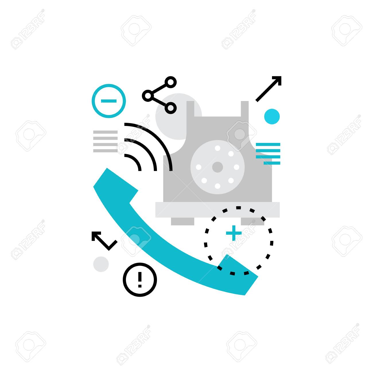 modern vector icon of telephone conversation, business and private  communication  premium quality vector illustration