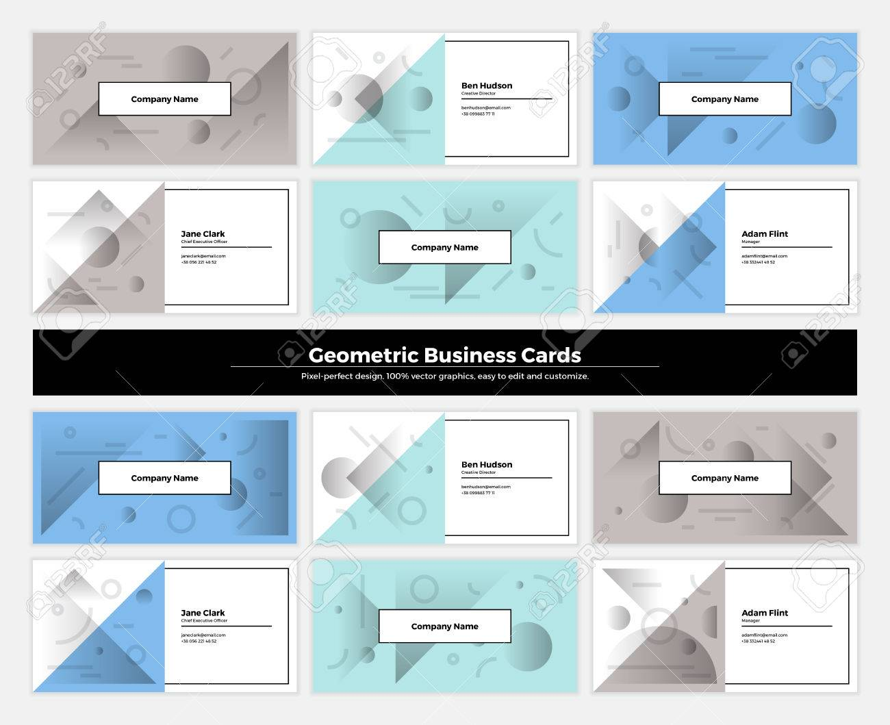 Geometric business cards with pattern background modern clean geometric business cards with pattern background modern clean design geometry texture vector abstract branding reheart Image collections