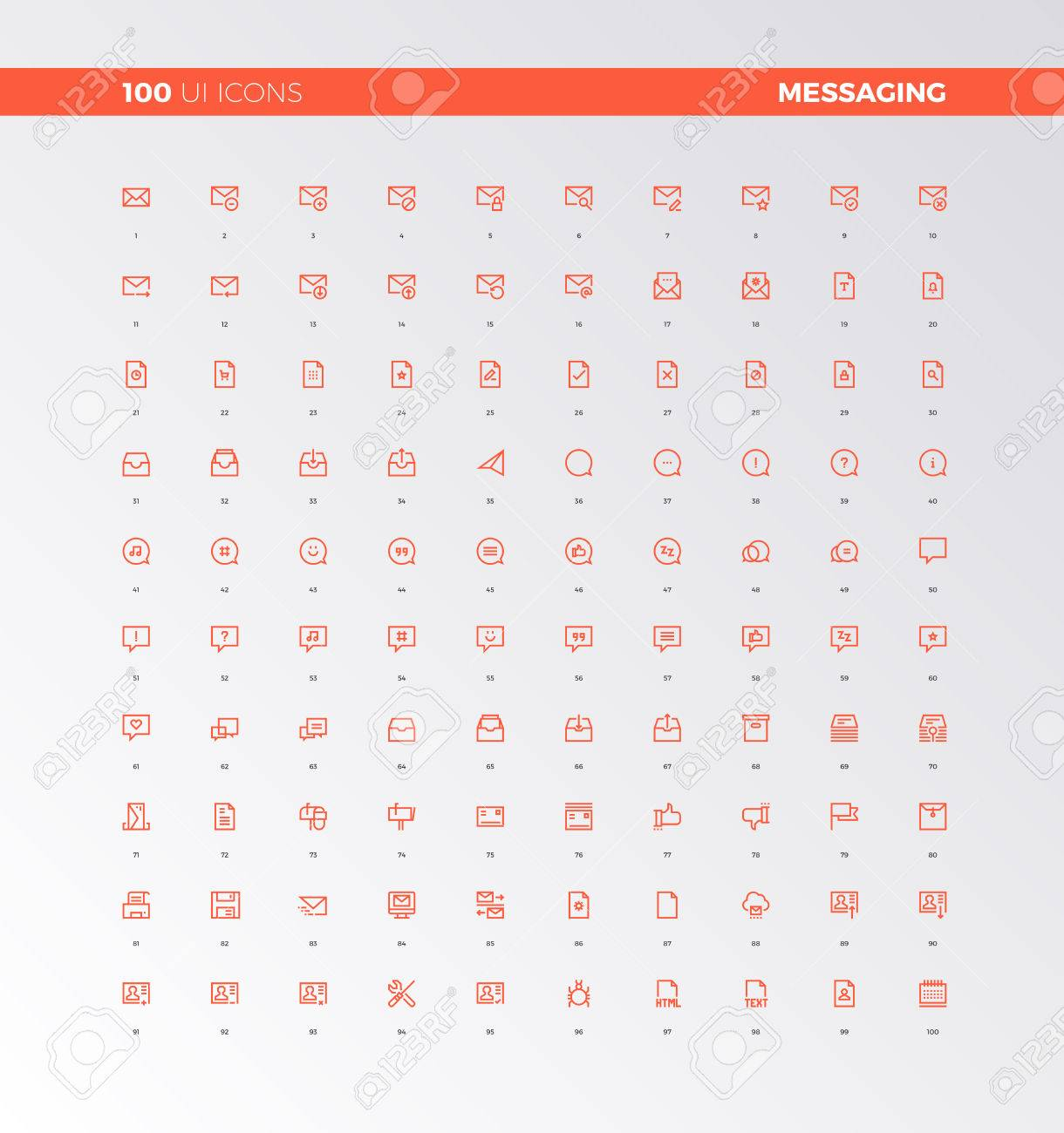 Ui icons collection messaging and chatting elements ux messaging and chatting elements ux pictograms for user interface web biocorpaavc