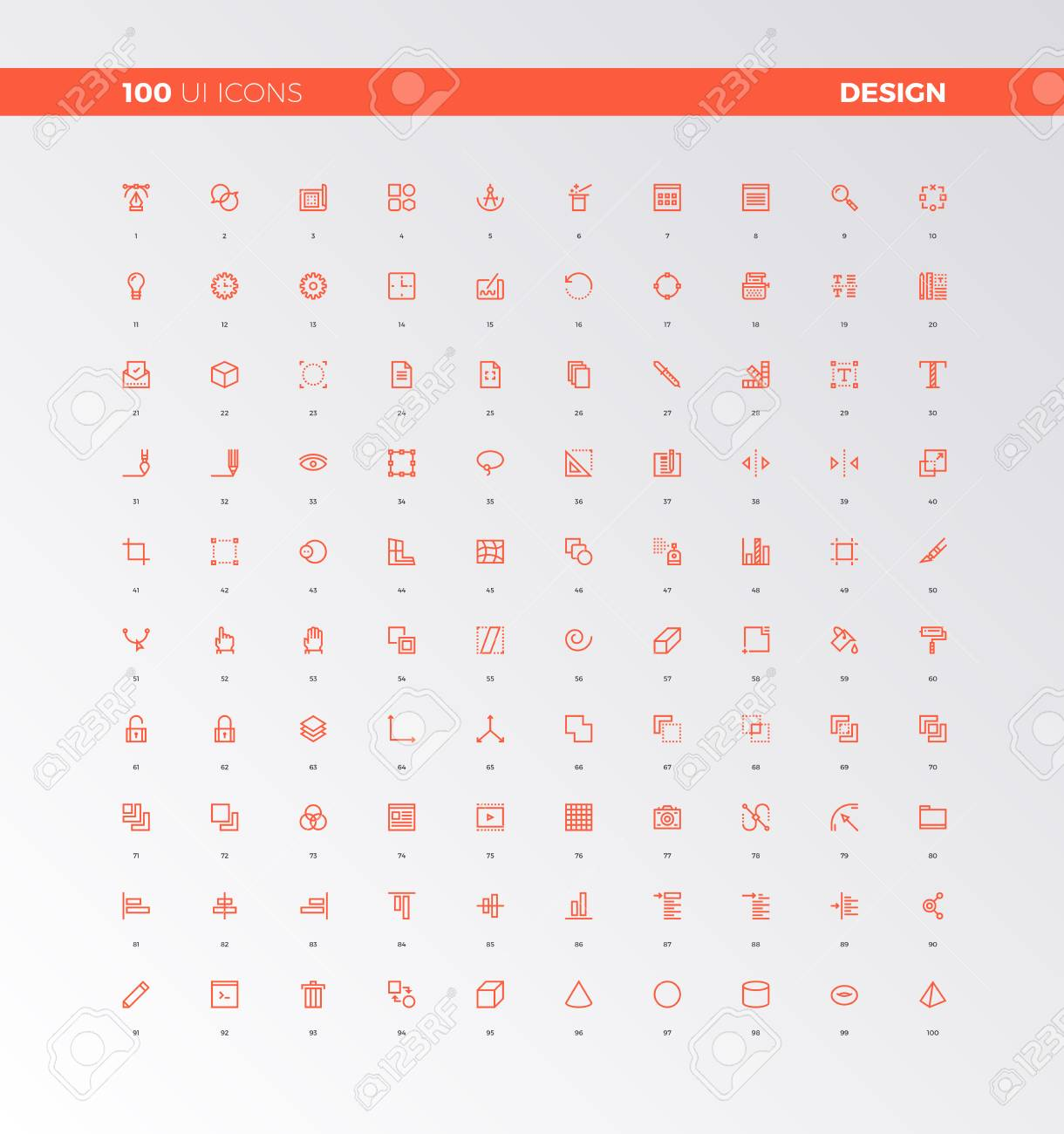 Ui Icons Of Web Design Elements Digital Graphics Tools Ux Pictograms Royalty Free Cliparts Vectors And Stock Illustration Image 71545705